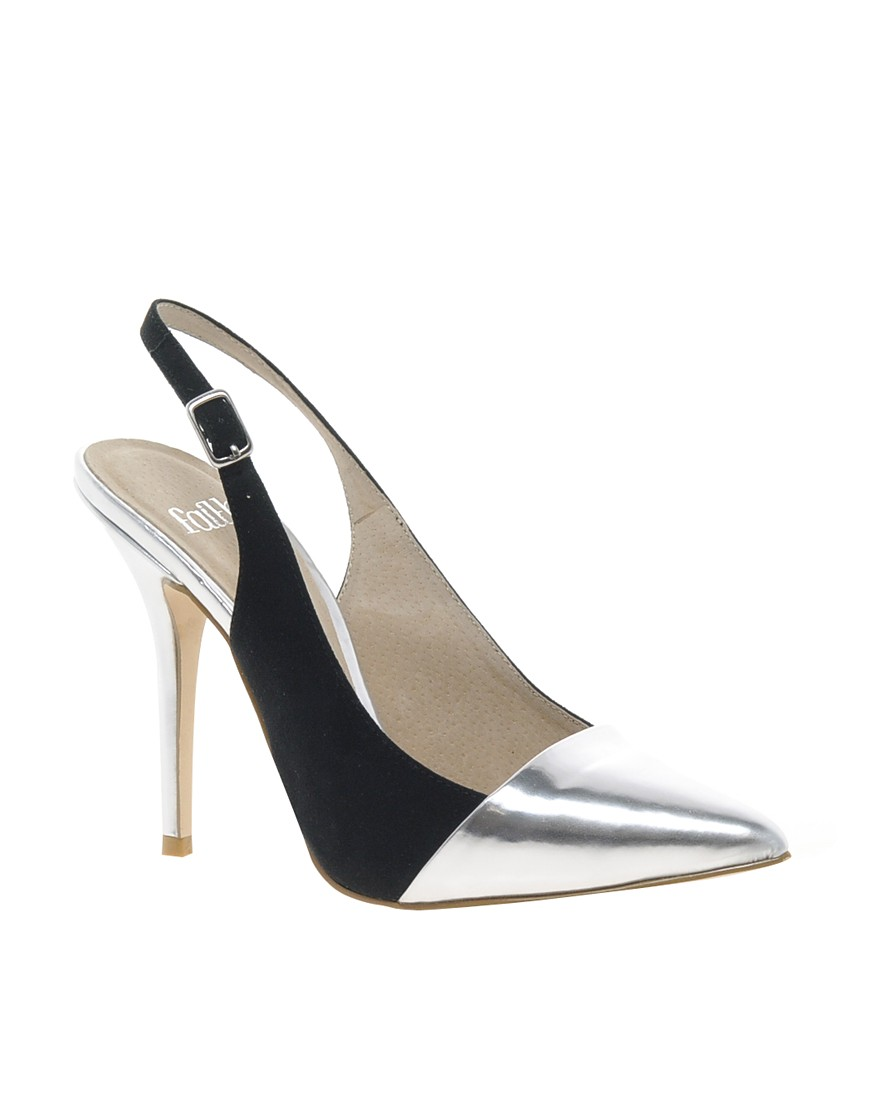 Image 1 ofFaith Crush Metallic Court Shoes