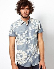 Denim &amp; Supply Ralph Lauren Shirt With Floral Chambray