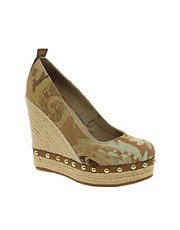 ALDO Elida Beige Espadrille Wedge Shoes