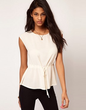 Image 1 ofASOS Top with Soft Peplum
