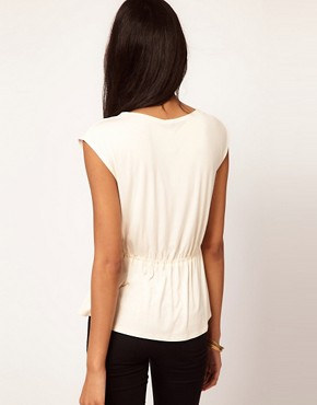 Image 2 ofASOS Top with Soft Peplum