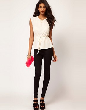 Image 4 ofASOS Top with Soft Peplum
