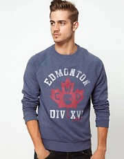 ASOS Sweatshirt With Varsity Print