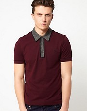 Original Penguin Earl Polo with Tweed Collar