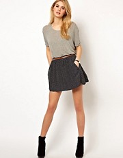Mango Print Skater Skirt