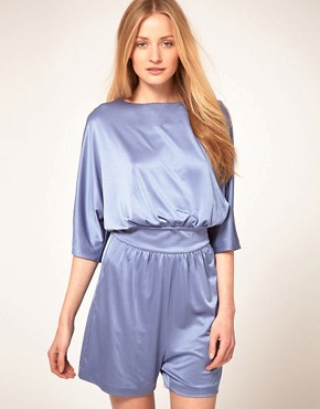 Image 1 ofHalston Heritage Boatneck Playsuit