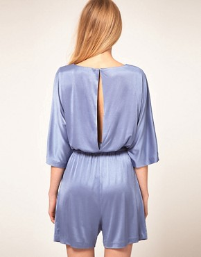 Image 2 ofHalston Heritage Boatneck Playsuit