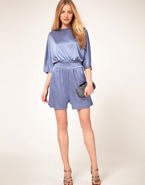 Image 4 ofHalston Heritage Boatneck Playsuit