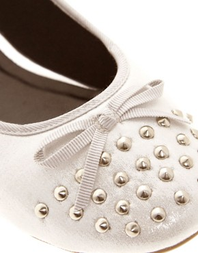 Image 2 ofASOS LEVEL Studded Ballet Flats