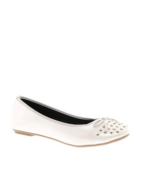 Image 1 ofASOS LEVEL Studded Ballet Flats
