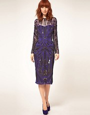 ASOS Midi Dress with Heavy Embellishment