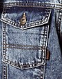 Image 3 ofASOS Sleeveless Denim Jacket With Acid Wash