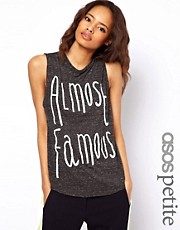 ASOS PETITE Tank Top with Beaded Almost Famous