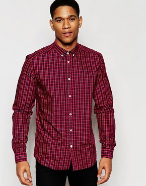 !SOLID Mini Tartan Shirt In Regular Fit