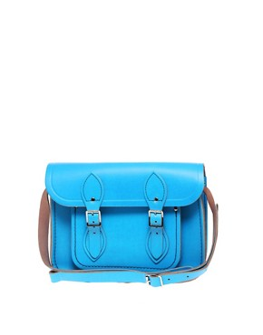 Image 1 ofCambridge Satchel Company Bright Blue 11&quot; Leather Satchel
