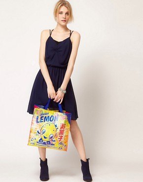 Image 3 ofBlue Q Lemon Cartoon Shopper