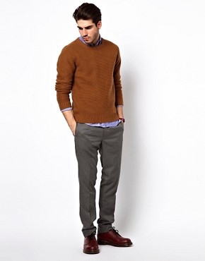 Image 4 ofGant Rugger Trousers in Herringbone