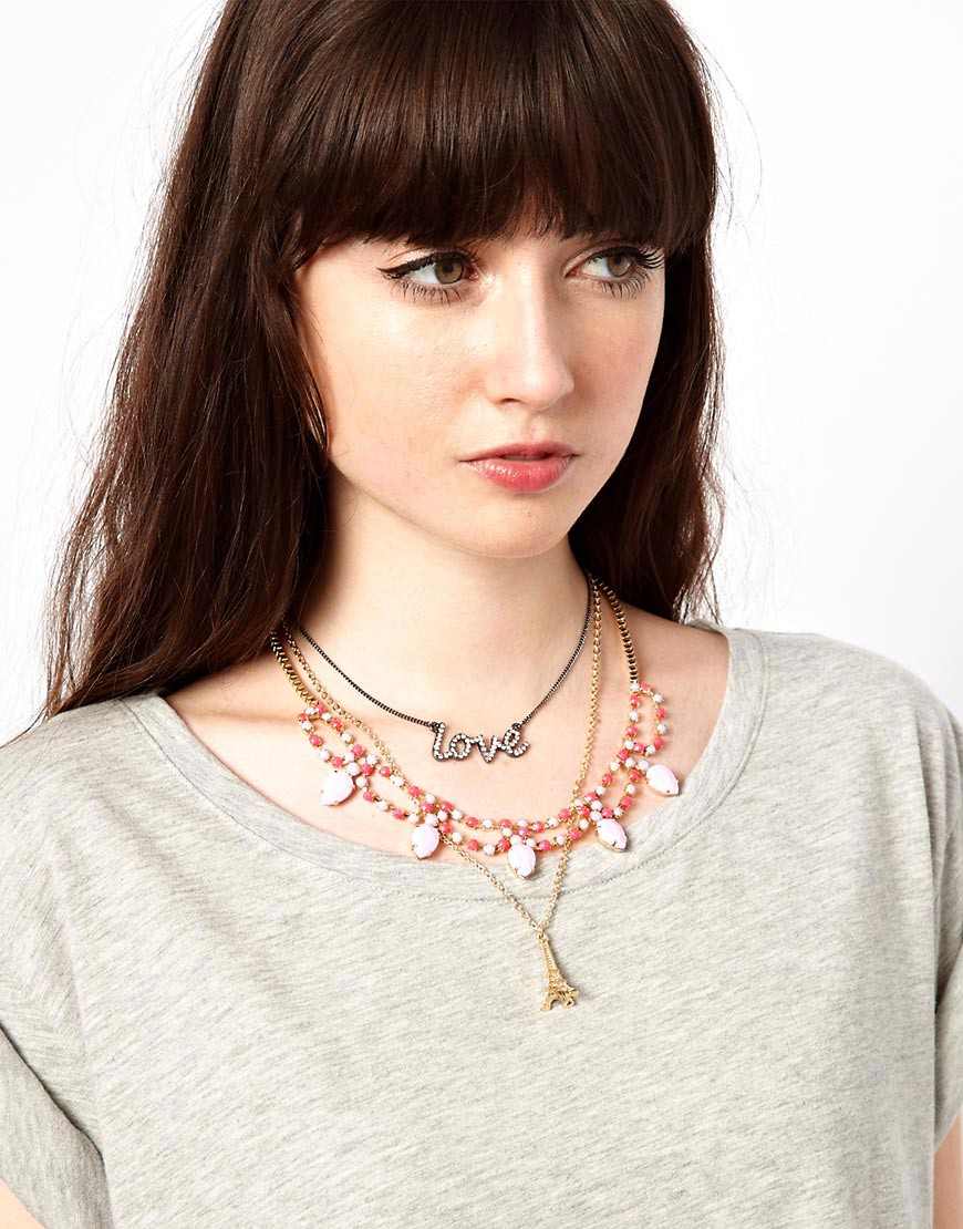Image 2 ofASOS Multipack Love Paris Necklaces