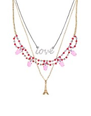 Juego de collares Love Paris de ASOS