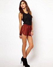 Very By Vero Moda Leather Shorts