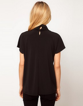 Image 2 ofASOS Ruched High Neck Top