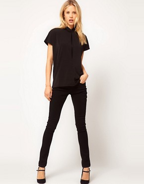 Image 4 ofASOS Ruched High Neck Top