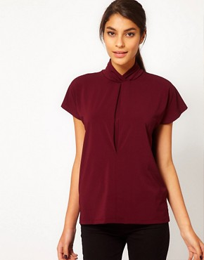 Image 1 ofASOS Ruched High Neck Top