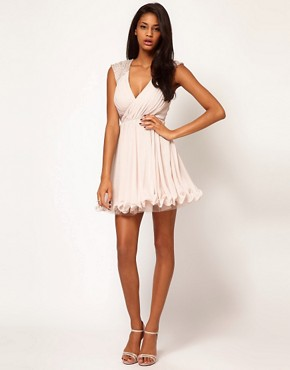 Image 4 ofLipsy VIP Embellished Shoulder Prom Dress