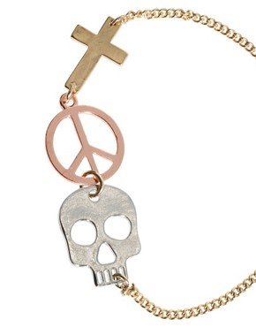 Image 4 ofASOS Cross and Skull Linked Bracelet