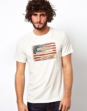 Camiseta con estampado de la bandera estadounidense de Denim & Supply Ralph Lauren
