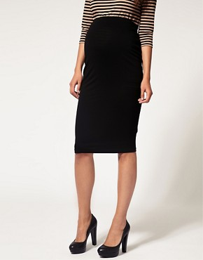Image 4 ofASOS MATERNITY Jersey Pencil Skirt