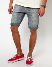 River Island Denim Zebra Shorts