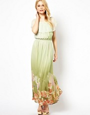 Traffic People Silk Maxi Dress