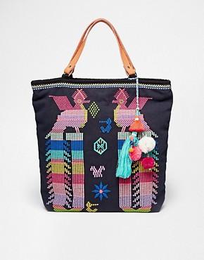 Star Mela Revi Hand Made Embroidered Bird Bag