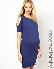 ASOS Maternity Knitted Dress With Open Shoulder