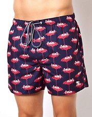 Ted Baker Stork Print Swim Shorts