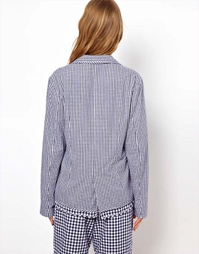 Image 2 of Peter Jensen Loose Double Layered Blazer in Gingham Check