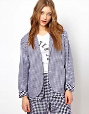 Peter Jensen Loose Double Layered Blazer in Gingham Check
