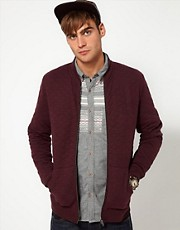 River Island Jersey Bomber Jacket