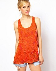 ASOS Vest with Floral Beading and Embellishment