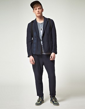 Image 4 ofASOS BLACK Suit Jacket in Cotton Linen Mix