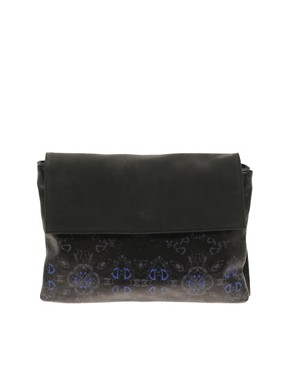 Image 1 ofASOS BLACK By Markus Lupfer  Leather Printed Clutch