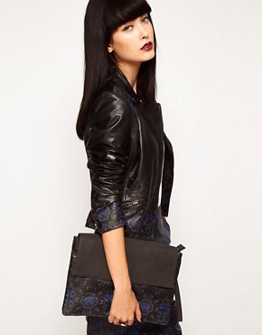 Image 3 ofASOS BLACK By Markus Lupfer  Leather Printed Clutch