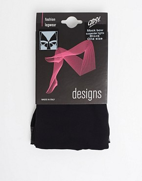 Image 3 ofGipsy Mock Bow Suspender Tights