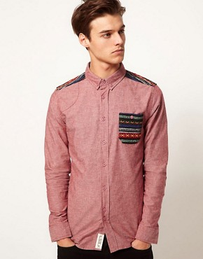 Image 1 ofBellfield Shirt with Contrast Pocket
