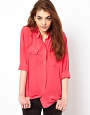 American Retro Utility Shirt in Silk