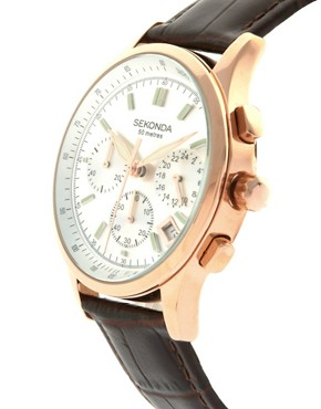 Image 3 ofSekonda Brown Leather Watch