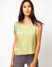 Vero Moda Very Printed Fringe Top