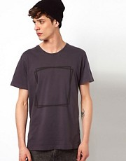 Two Square  T-Shirt mit Logo