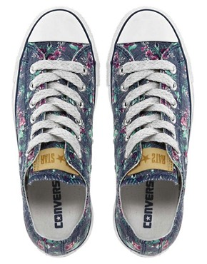 Image 2 ofConverse All Star Floral Ox Trainers
